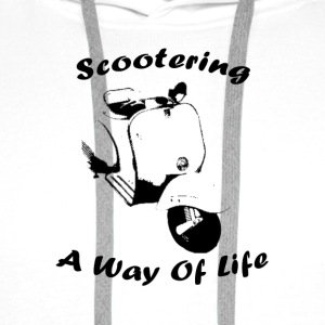 White scootering a way of life Underwear - Men's Premium Hoodie