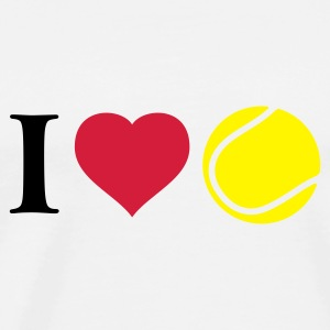 ich_liebe_tennis_2c Hoodies & Sweatshirts - Men's Premium T-Shirt