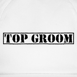 White Top Groom Men's T-Shirts - Baseball Cap