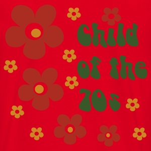 Rot Child of the 70s Pullover - Männer T-Shirt