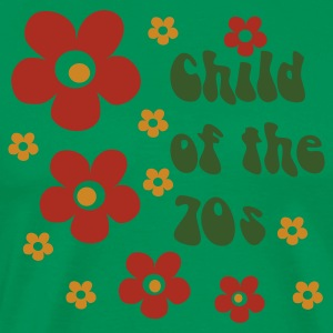 Green Child of the 70s  Aprons - Men's Premium T-Shirt