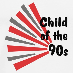 Wit Child of the 90s Buttons - Mannen Premium T-shirt