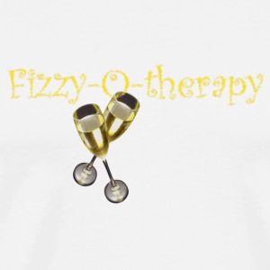 White fizzy-o-therapy Mugs  - Men's Premium T-Shirt