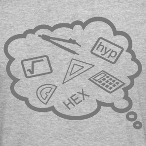 Heather grey Maths revision Hoodies & Sweatshirts - Men's Slim Fit T-Shirt