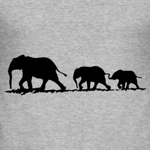 Elephant family - slim fit T-shirt