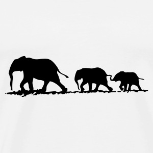 Elephant family - Premium T-skjorte for menn