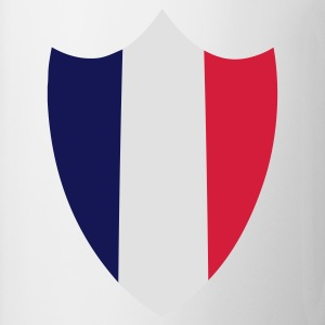 Sand/sort France, Shield Flag T-shirts - Kop/krus