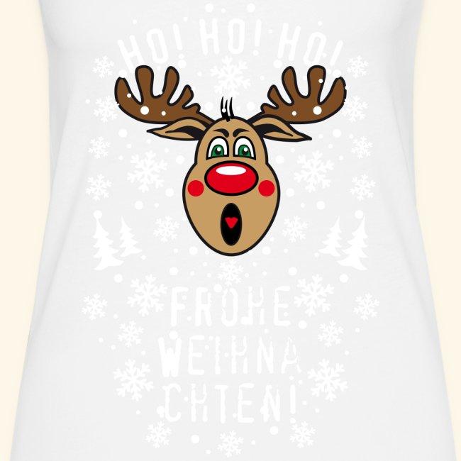 Ho Ho Ho Frohe Weihnachten.74 Hirsch Rudolph Ho Ho Ho Frohe Weihnachten T Shirt Frauen Premium Tank Top