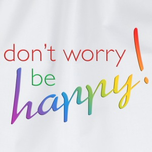 DONT WORRY - BE HAPPY | Teddy - Turnbeutel