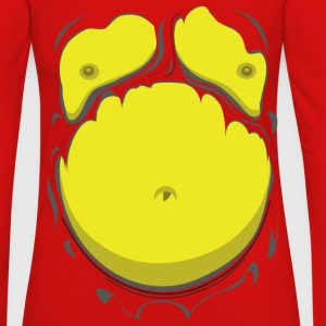 Komisk Fet Mage Gul (Comic Fat Belly Yellow) - Långärmad premium-T-shirt dam