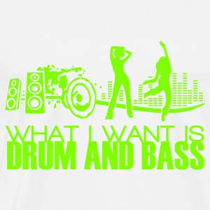 what i want is drum and bass white bag - Männer Premium T-Shirt