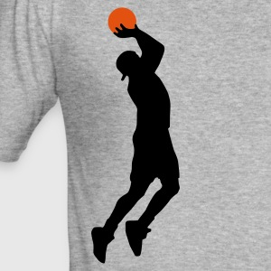 basketballer_2c Tröjor - Slim Fit T-shirt herr