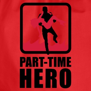 Rot/weiß Part-Time Hero T-Shirts - Turnbeutel