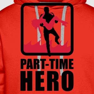 Rot/weiß Part-Time Hero T-Shirts - Männer Premium Hoodie