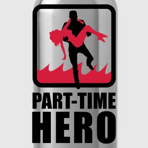 Rot/weiß Part-Time Hero T-Shirts - Trinkflasche