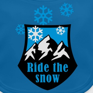 ride_the_snow_3c Shirts - Bio-slabbetje voor baby's