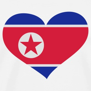 Weiß North Korea heart - eushirt.com Tassen - Men's Premium T-Shirt