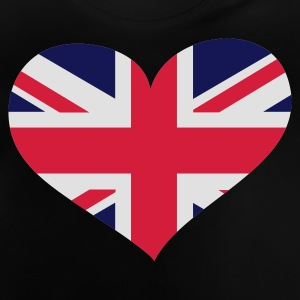 Schwarz United Kingdom heart / Great Britain heart - eushirt.com Kinder T-Shirts - Baby T-Shirt