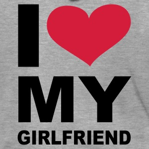 Grau meliert I love my girlfriend - eushirt.com Pullover - Men's Premium Hooded Jacket