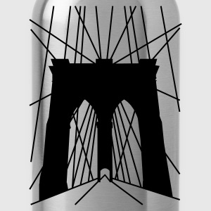 Schwarz Brooklyn Bridge Pullover - Trinkflasche