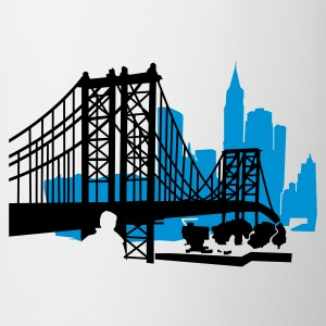 Weiß NewYork City Bridge T-Shirts - Tasse