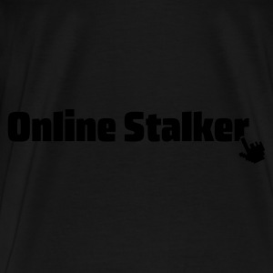Black/white online stalker Bags  - Men's Premium T-Shirt