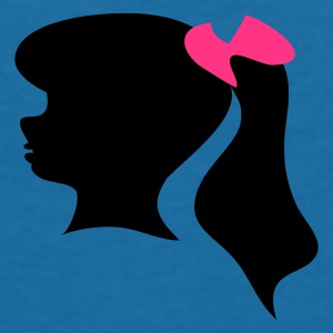 Black Retro fifties girl silhouette icon. Accessories - Women's V-Neck T-Shirt
