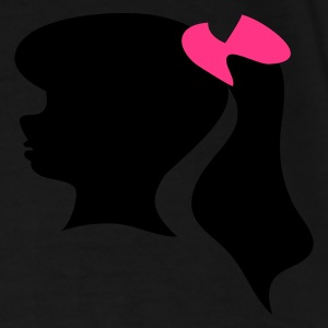 Black/white Retro fifties girl silhouette icon. Bags  - Men's Premium T-Shirt