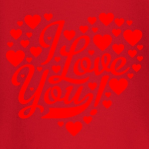 Rojo i love you heart shaped design Mochilas - Camiseta manga larga bebé