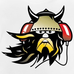 Blanco Viking headphones ES Camisetas niños - Camiseta bebé