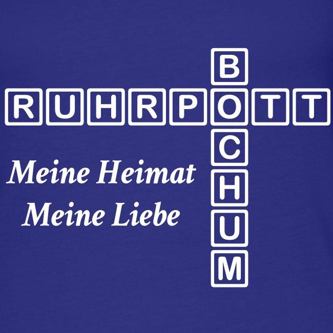 Ruhrpott Bochum Meine Heimat, meine Liebe - Slim T-Shirt