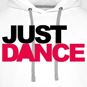 Wit Just Dance V2 T-shirts - Mannen Premium hoodie