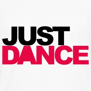 White Just Dance V2 Men's T-Shirts - Men's Premium Longsleeve Shirt