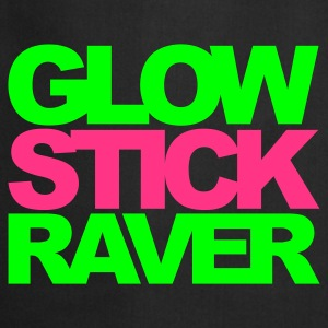 Black Glow Stick Raver 2 V2 Men's T-Shirts - Cooking Apron
