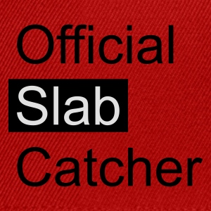 Red Official Slab Catcher Men's T-Shirts - Snapback Cap
