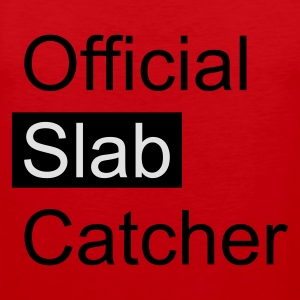 Red Official Slab Catcher Men's T-Shirts - Men's Premium Tank Top