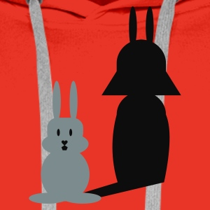 Red Hase Helmchen / bunny and the dark side (2c) Men's T-Shirts - Men's Premium Hoodie