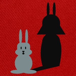 Rød Hase Helmchen / bunny and the dark side (2c) T-shirts - Snapback Cap