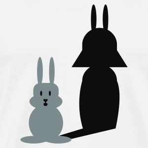 Blanc/noir Hase Helmchen / bunny and the dark side (2c) T-shirts manches longues - T-shirt Premium Homme