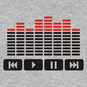 Heather grey Equalizer audio player dj Hoodies & Sweatshirts - Men's Slim Fit T-Shirt