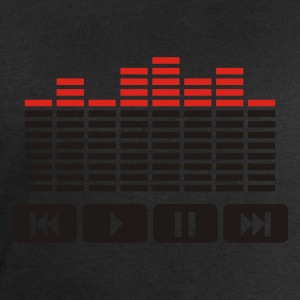 Noir Equalizer audio player dj T-shirts - Sweat-shirt Homme Stanley & Stella