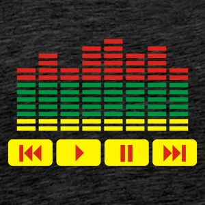 Grön Equalizer DJ music player Tröjor - Premium-T-shirt herr