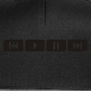 Black player tasten music play Underwear - Snapback Cap