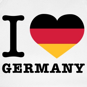 Weiß I love Germany © T-Shirts - Baseballkasket