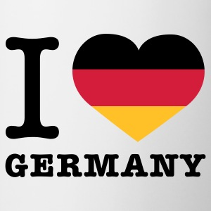 Weiß I love Germany © T-Shirts - Mug