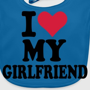 Royalblau I love my Girlfriend - Freundin Kinder T-Shirts - Baby Bio-Lätzchen