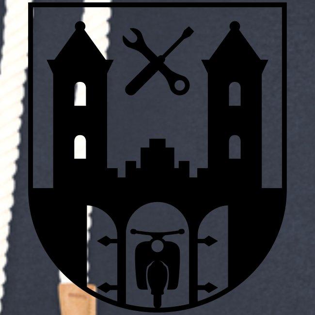 Simson Schwalbe - Suhl Wappen (+ Dein Text)