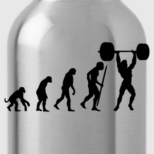 Red Evolution of pumping iron Men's T-Shirts - Water Bottle