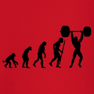 Red Evolution of pumping iron Men's T-Shirts - Baby Long Sleeve T-Shirt