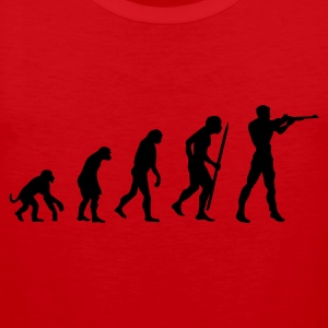 Red evolution of shooting Men's T-Shirts - Men's Premium Tank Top